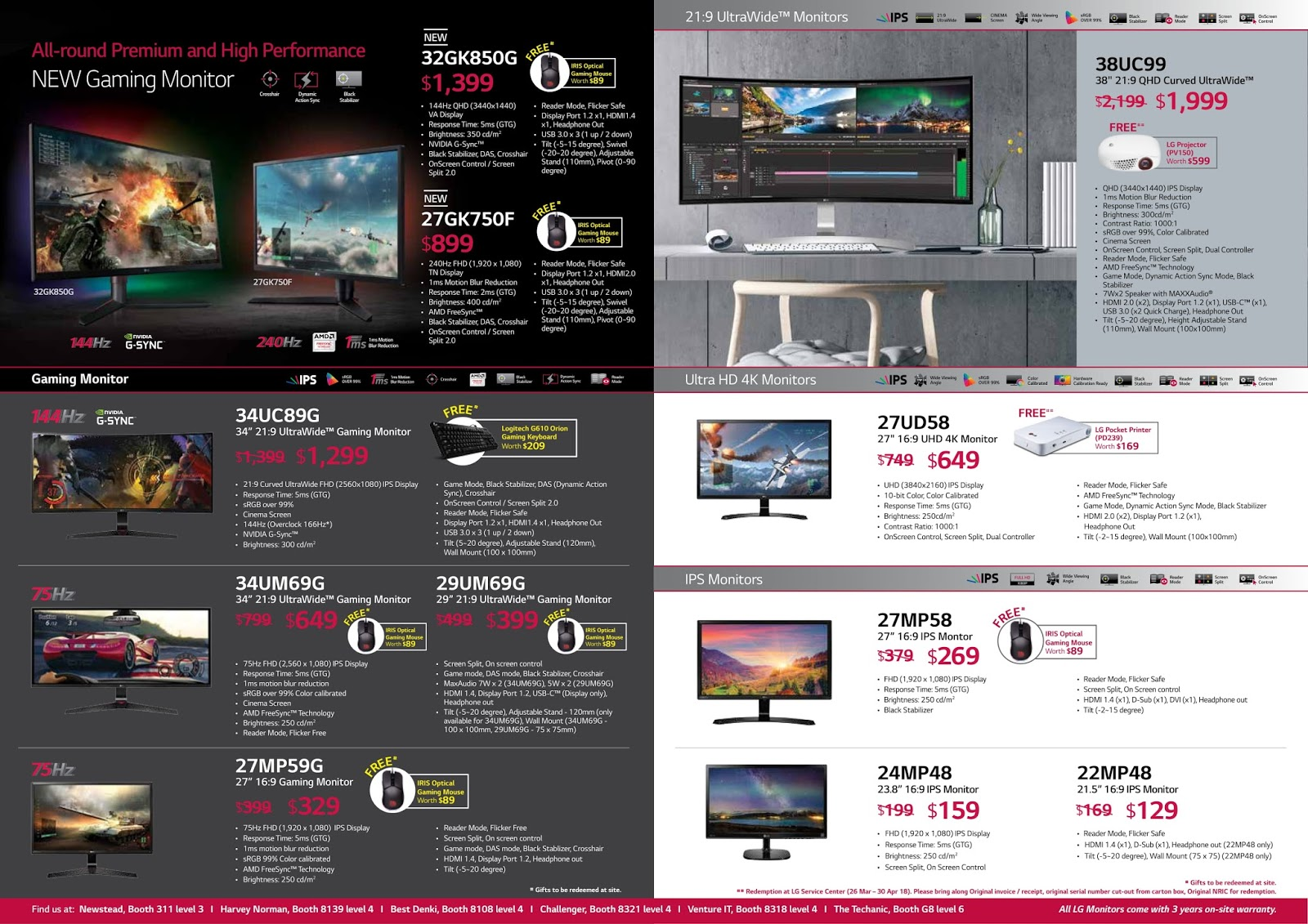 LG's Flyer for IT Show 2018 - The Tech Revolutionist