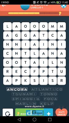 WordBrain 2 soluzioni: Categoria Oceano (7X7) Livello 1
