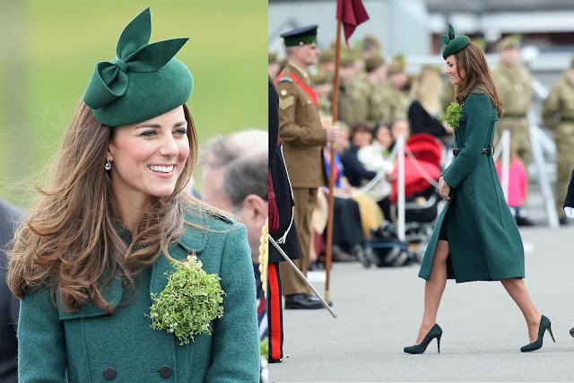 Kate wore Hobbs green coat