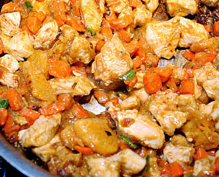 Chicken with tangerines
