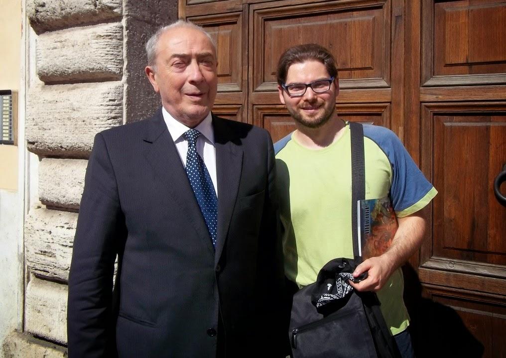 Luca Bagatin con a sin. l'ex Gran Maestro della Loggia d'Italia degli ALAM,  Luigi Danesin