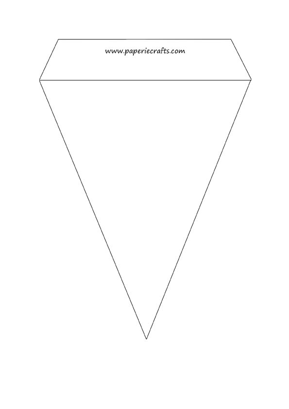 triangle flag banner template - yt banner template