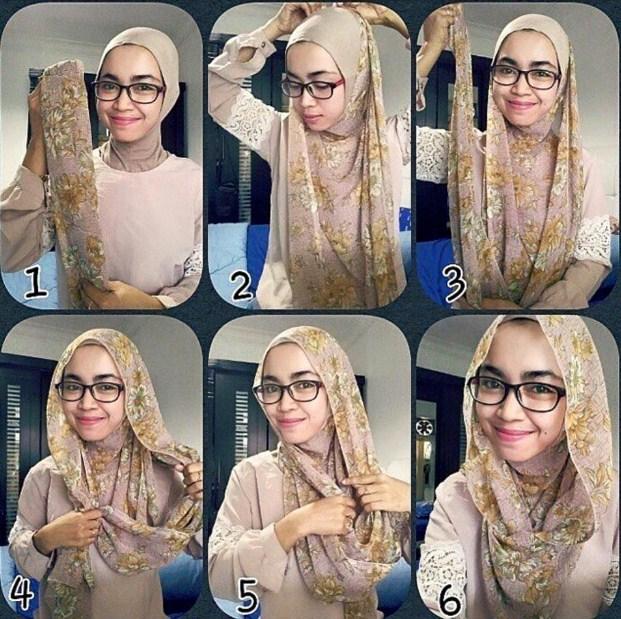 Contoh Tutorial Hijab Modern Natasha Farani 2016