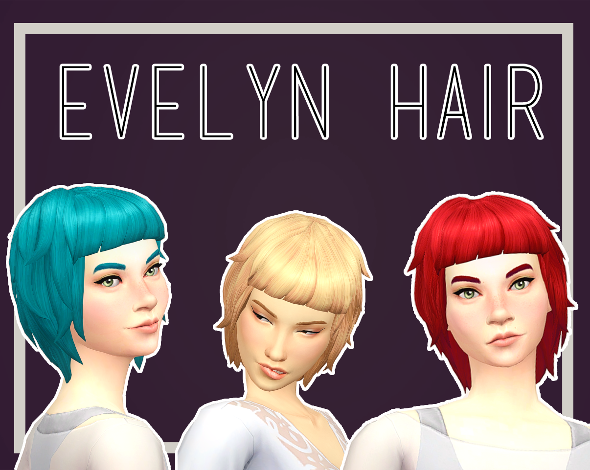 My Sims 4 Blog Rebecca Paprika And Evelyn Hair For