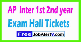 AP Inter 1st 2nd Year Hall Tickets Download
