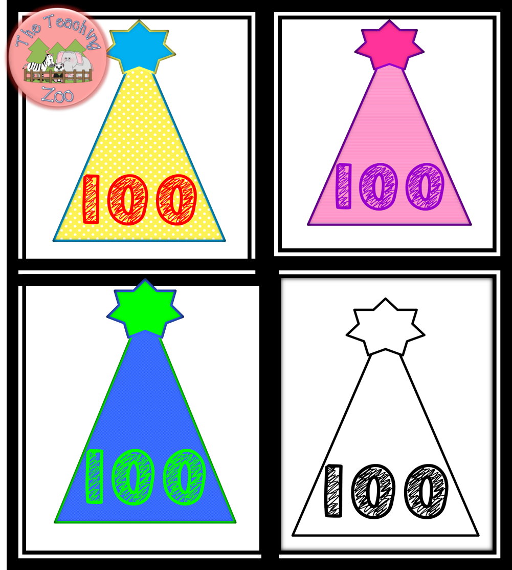 100th day hat template - search results for 100 days smarter printable calendar