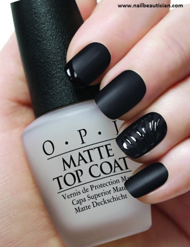 Black matte top coat designs