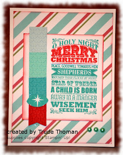 Oh Holy Night, Christmas card, Stamp with Trude, Stampin' Up!