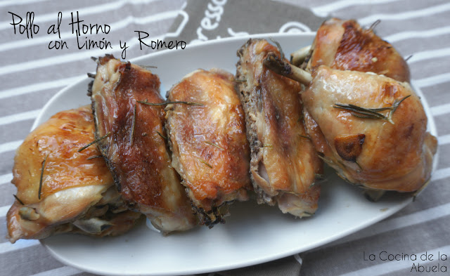 Pollo asado limón romero receta pasos horno mesa
