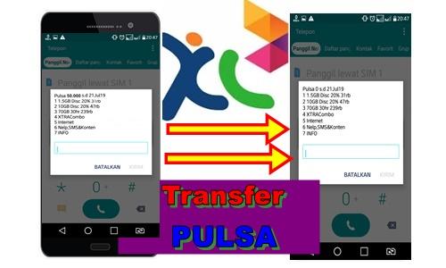 Transfer pulsa di kartu xl
