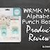 WRMK Mini Alphabet Punch Board | Craft Tool