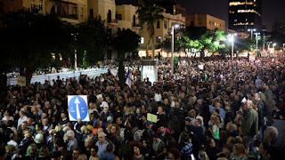 Marcha da vergonha contra a corrupção em Israel