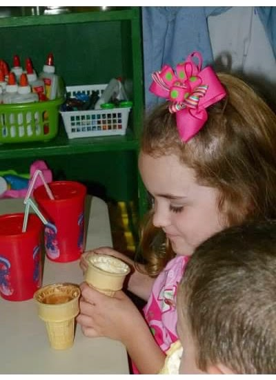 My favorite easy ice cream recipe, and how I use making ice cream to teach young children. Delicious fun!