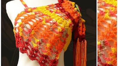 Cómo tejer el top Oranda prenda femenina a crochet