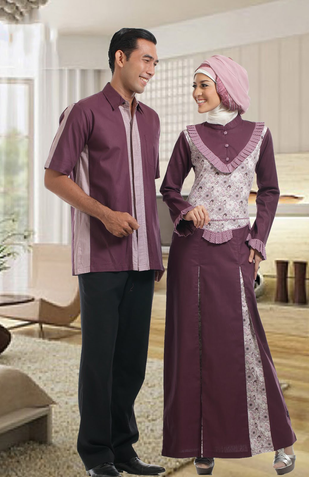 60 Model Gamis Batik Kombinasi Polos Muslimah Modern 2019 Model