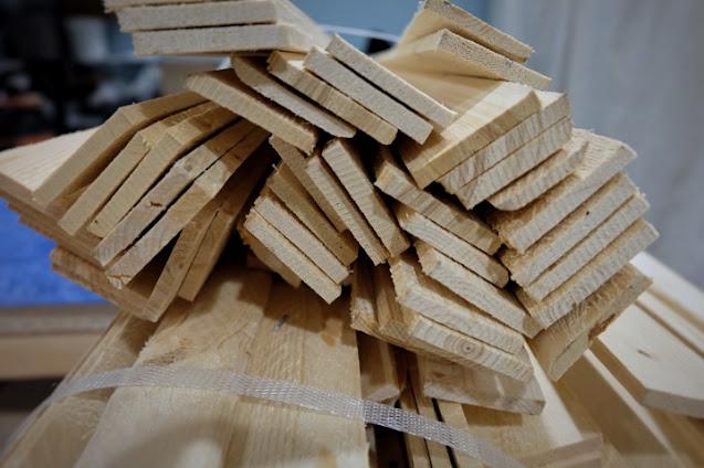 wood lath bundle