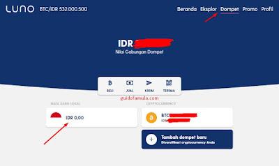 sebelum melakukan deposit, kamu wajib lakukan pendaftaran di LUNO seperti berikut..