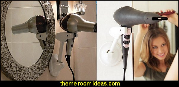 Hands Free Hair Dryer Holder  beauty salon theme bedroom ideas - Hair Salon theme decorating ideas - Beauty Salon Decor Ideas - Beauty salon themed bedroom - decorating ideas beauty salon theme - Makeup Room Decor