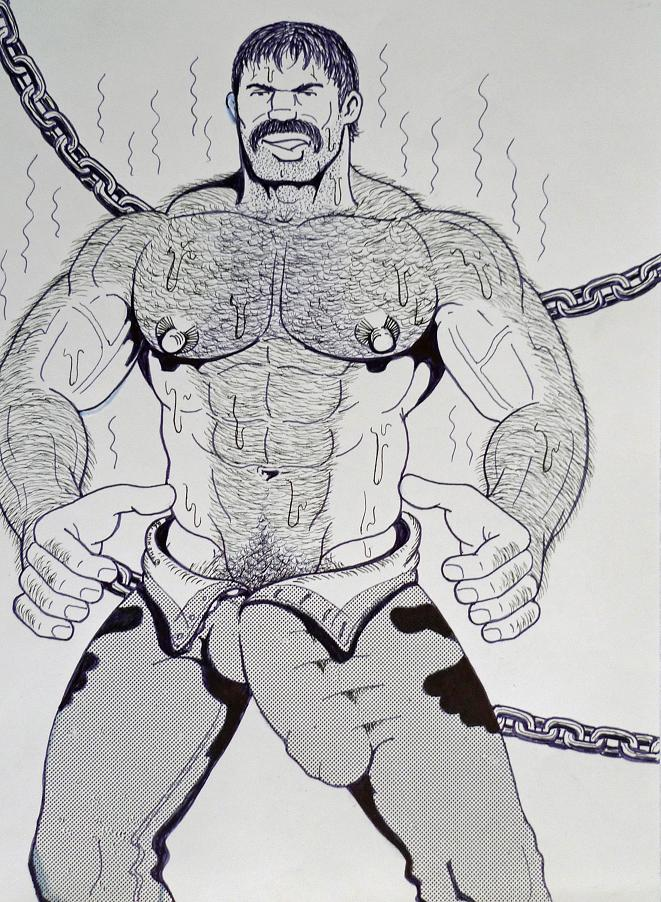 Eeotic Gay Porn Pencil Drawing - MALE DRAWING ART BLOG : THE HUN / HUNART DRAWING
