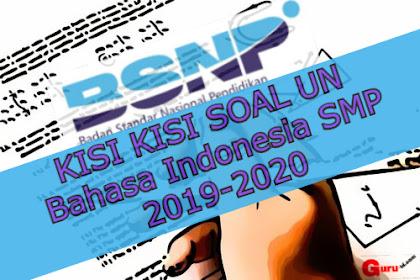 Kisi Kisi Soal UN Bahasa Indonesia SMP 2020