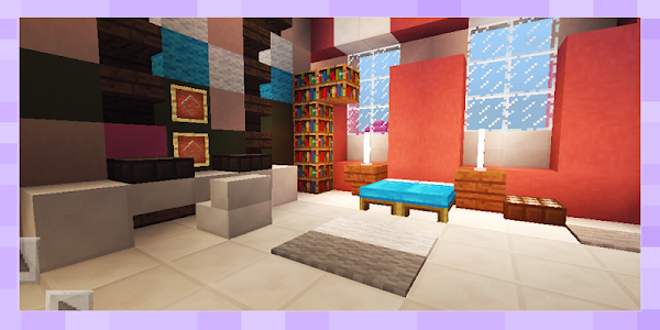 Pink Princess House for Girls Map MCPE - Minecrafterpe com l