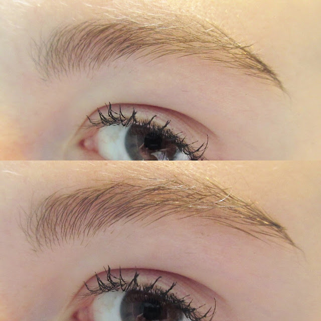 Essence Make Me Brow Brow Mascara Before and After