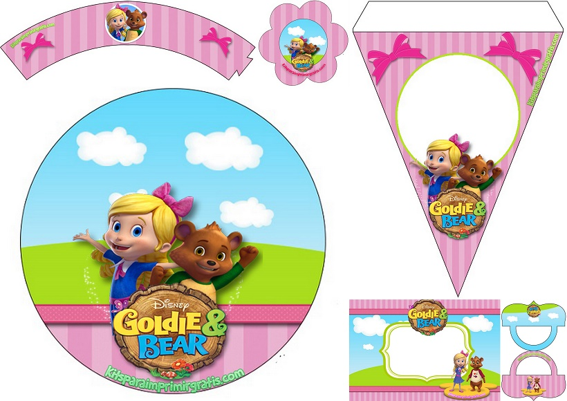 Goldie And Bear Cake Toppers