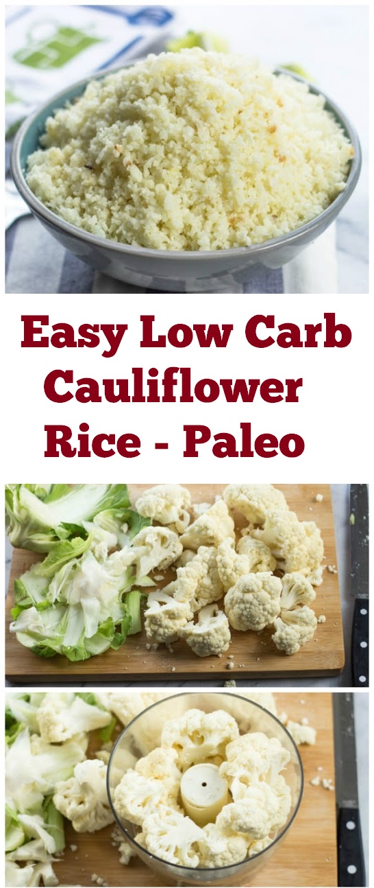 Easy Paleo Low Carb Cauliflower Rice Recipe | healthy dinner recipe | paleo recipe | easy low carb recipe | low carb dinner recipe | Cauliflower Rice recipe #dinner #lowcarb #paleo #dinnerrecipe #lowcarbrecipe #easydinner #dinnerideas #healthydinner