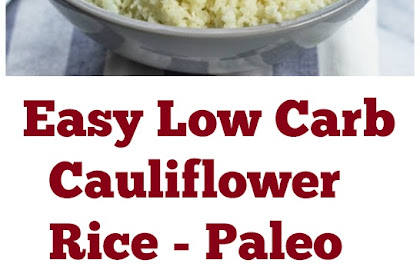 Easy Paleo Low Carb Cauliflower Rice Recipe