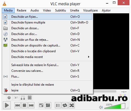 Cum se deschide un fișier video în VLC