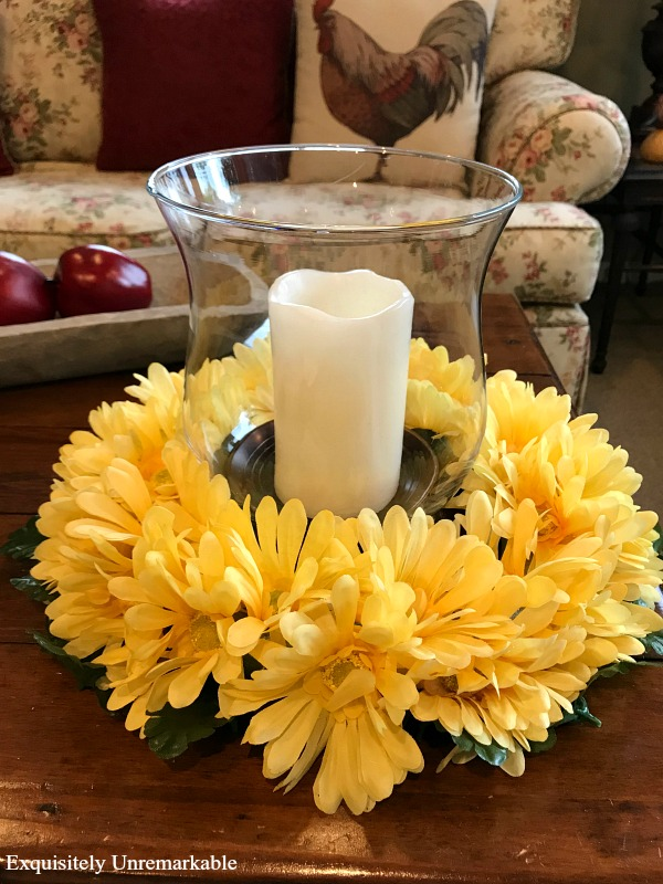 Floral Daisy Candle Ring DIY