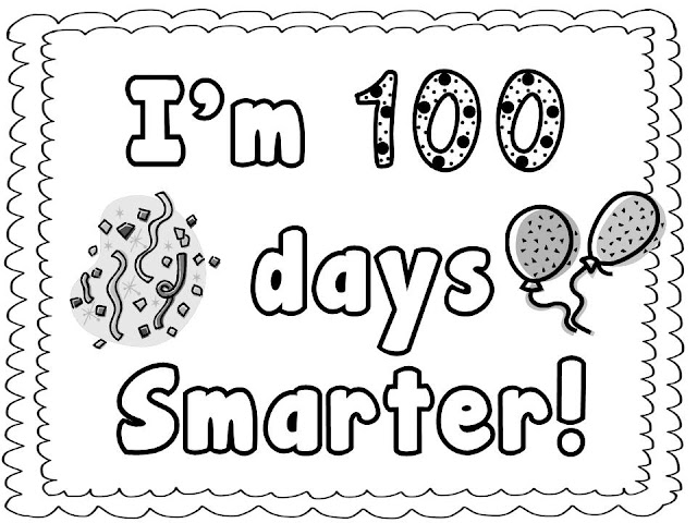 100 day coloring pages printable | Tori's Teacher Tips: 100's Day! Freebies