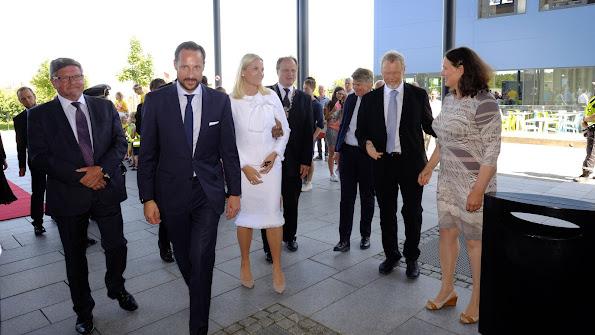 Prince Haakon and Princess Mette-Marit celebrated Grimstad's 200th anniversary