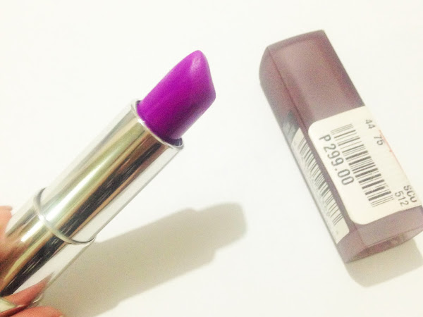 Maybelline Creamy Matte in Vibrant Violet Review