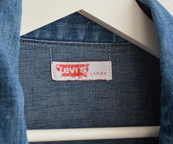 70sヴィンテージLevi'sリーバイスデニムインディゴウエスタンシャツ