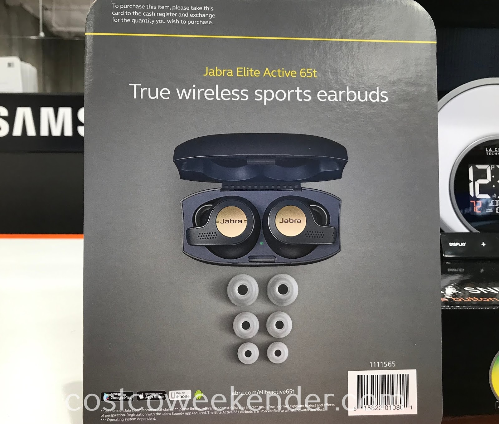 Costco 1111565 - Jabra Elite Active 65T True Wireless Headphones: great for athletes and music lovers alike