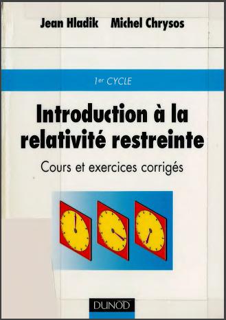 Livre : Introduction à la relativité restreinte - Cours et exercices corrigés PDF