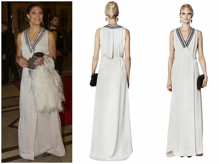 29aead2d518 Crown Princess Victoria of Sweden wore By Malene Birger Sleeveless Long  Dress