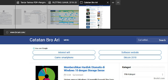 Tips Browsing Internet Menggunakan Microsoft Edge dengan Preview Thumbnail
