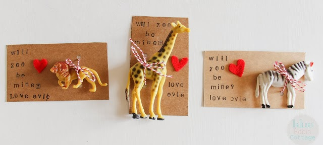 Will Zoo Be Mine Valentines from Blue Robin Cottage
