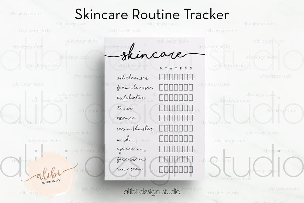 freebie skincare routine tracker alibi design studio