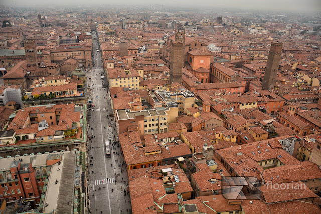 czerwone dachy Bolonii to znak charakterystyczny Bolonii