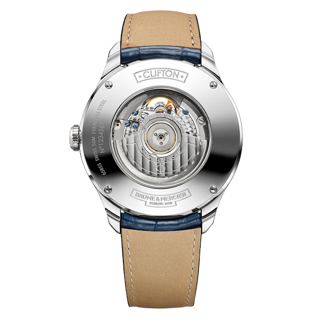 Baume & Mercier Clifton Open Balance Wheel and Power Reserve (ref. M0A10448)