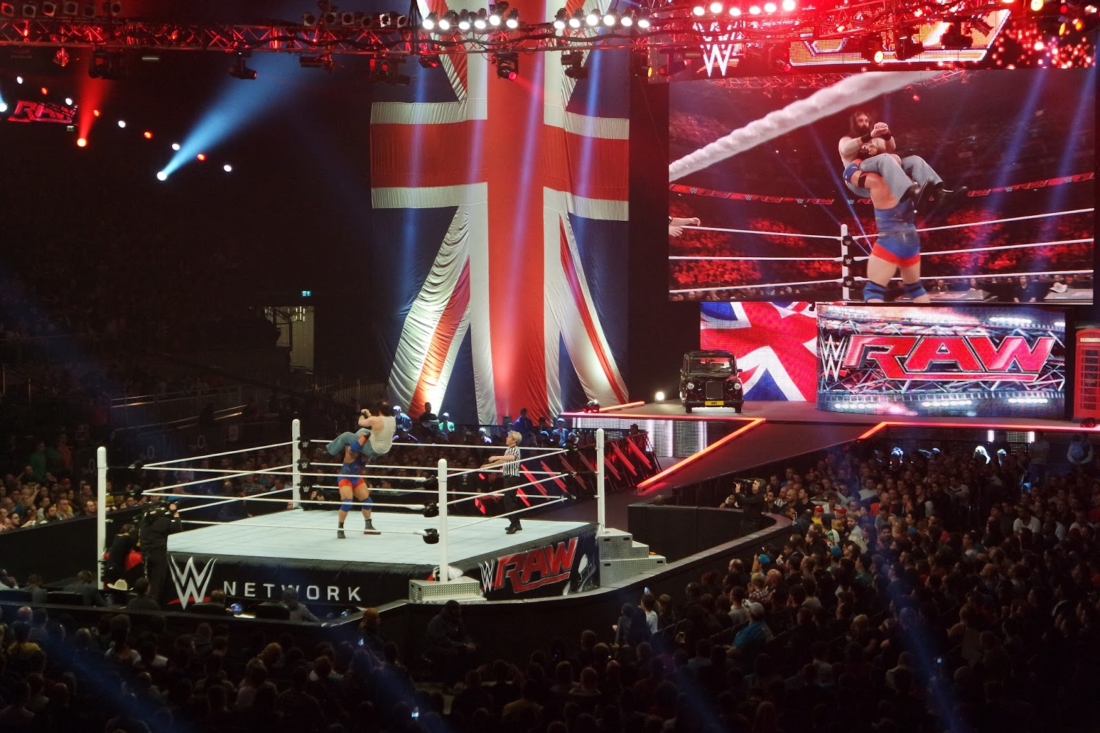 WWE RAW London O2 arena show and pre-show party