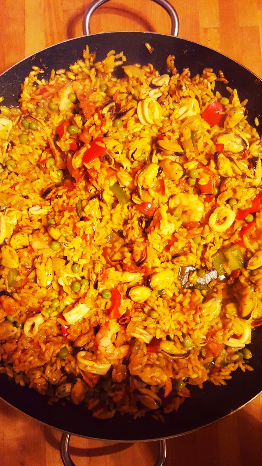 Spicy Seafood Paella: My Husbands Favourite Dish