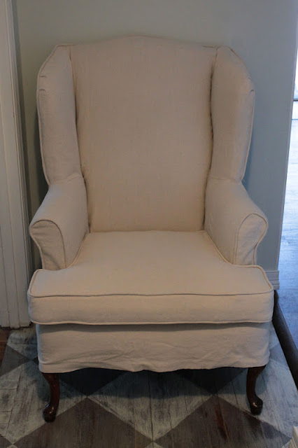 Vanhook Amp Co Slipcovered Wingback Chair
