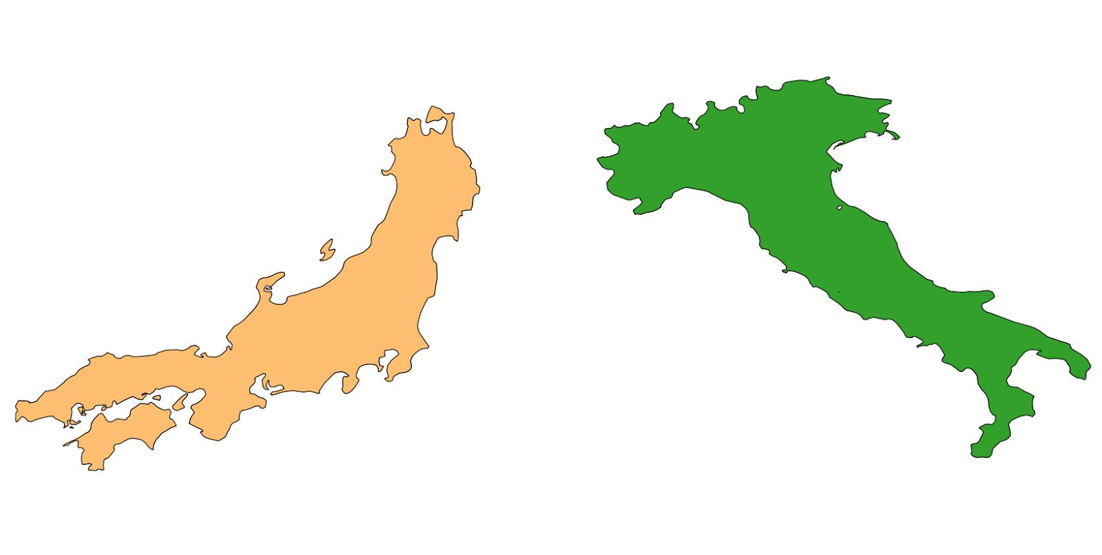 Cartina Italia Giappone.Gnss Info Quanto E Grande Il Giappone