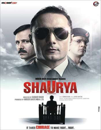 Poster Of Shaurya 2008 Hindi 600MB BluRay 720p ESubs HEVC Watch Online Free Download downloadhub.in