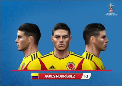 PES 6 Faces James Rodriguez by Alegor