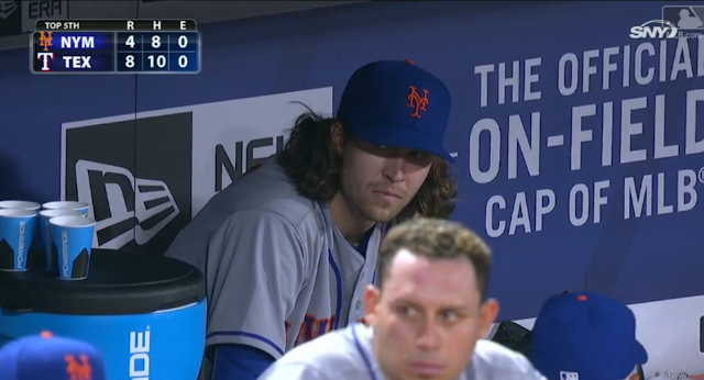 mets pitcher jacob degrom cried